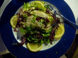 Fantastic seafood carpaccio.