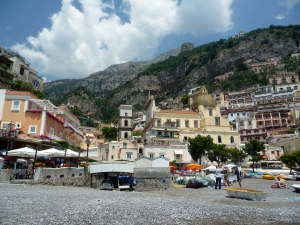 Positano from the bay.