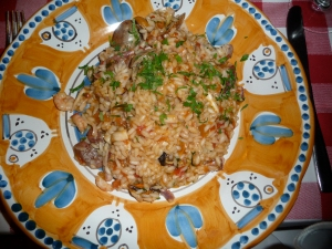 A spicy risotto.