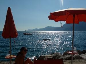 Okay, it's pretty decent at the Italian beach.