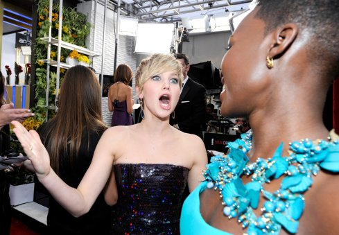 Two fashion hits in a row. JLaw can't believe it either.