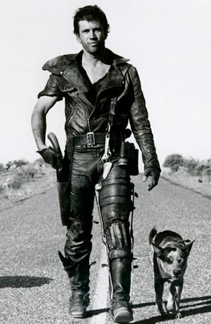 Not quite the road warrior I had in mind, but the one I end up looking like, most of the time. At least he has a dog.