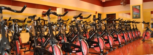 A gym where I don't have to move my own Spinning bike from the side wall?! I'M SO LUCKY.